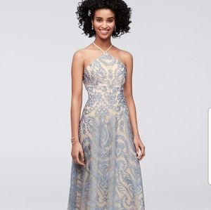 NWOT Speechless halter Embroidered gown